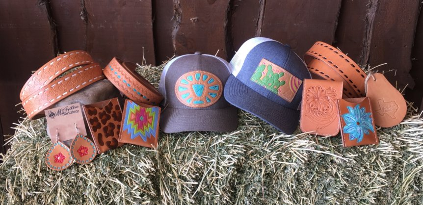 McIntire Saddlery Items on Hay Bale